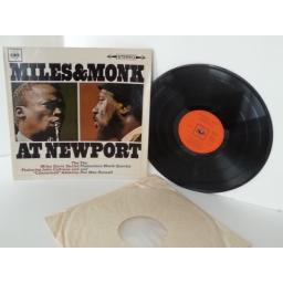 MILES DAVIES SEXTET AND THE THELONIOUS MONK QUARTET miles and monk at newport, vinyl LP