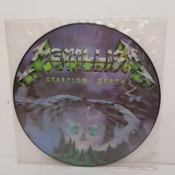 "METALLICA, creeping death, B side am I evil? and blitzkrieg, P12 KUT 112, 12"" single, picture disc"