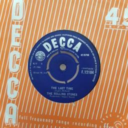 THE ROLLING STONES, it's all over now, B side good times, bad times, F. 11934