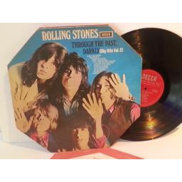 Rolling Stones THROUGH THE PAST, DARKLY BIG HITS VOL. 2, octagaonal die cut sleeve. LK. 5019
