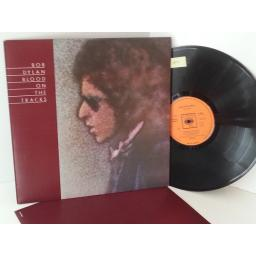 BOB DYLAN blood on the tracks, RARE FULL ARTWORK ON REAR COVER 69097