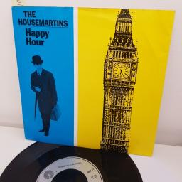 "THE HOUSEMARTINS, happy hour, B side the mighty 'ship, GOD 11, 7"" single"