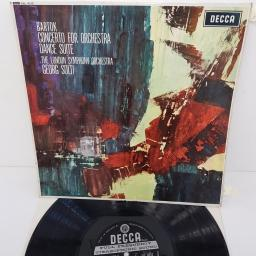 "Bartok, The London Symphony Orchestra, Georg Solti ‎– Concerto For Orchestra / Dance Suite, SXL 6212, 12"" LP"