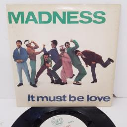 "MADNESS, it must be love, B side shadow on the house, BUY 134, 7"" single"