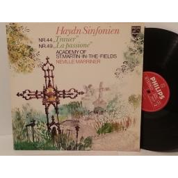 "HAYDN, ACADEMY OF ST MARTIN IN THE FIELDS, NEVILLE MARRINER symphonies no. 44 ""mourning"" and no. 49 ""la passione"", 9500 199"
