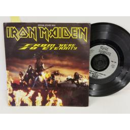 IRON MAIDEN from here to eternity, PICTURE SLEEVE, 7 inch single, single sided, etched, EMS 240