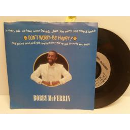 BOBBY McFARRIN don't worry be happy. 7 INCH PICTURE SLEEVE. MT56