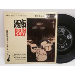 GENE KRUPA drum beat 4 track EP 7 inch picture sleeve. RCX 1052 MONO.