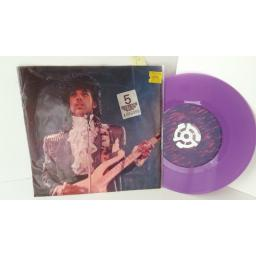 PRINCE AND THE REVOLUTION purple rain, 7 inch single, purple vinyl, 7-29174