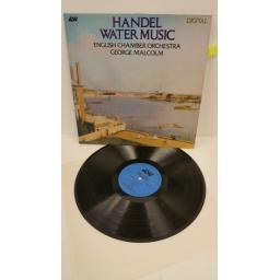 HANDEL, ENGLISH CHAMBER ORCHESTRA, GEORGE MALCOLM water music, DCA 520
