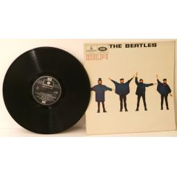 THE BEATLES, Help. Out lined STEREO. UK 1965, Two box EMI Parlophone label.