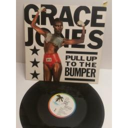 "SOLD : GRACE JONES pull up to the bumber 12IS240. 3 track 12"" single"