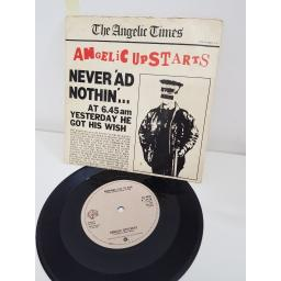 ANGELIC UPSTARTS, never 'ad nothing', side B nowhere left to hide, K 17476, PICTURE SLEEVE, 7'' single