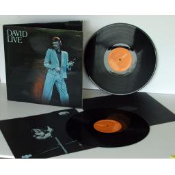 DAVID BOWIE, David Live With inner picture sleeves. First UK pressing 1974. R...