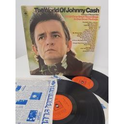 "JOHNNY CASH, the world of johnny cash, 66237, 2x12"" LP"