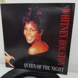 "WHITNEY HOUSTON, queen of the night CJ's single edit , B side queen of the night album version , 74321 16930 7, 7"" single"