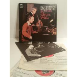 Beethoven The Complete Cello Sonatas performed by Tortelier, Heidsieck. EMI stereo 2 LP box set SLS 836