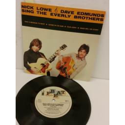 NICK LOWE & DAVE EDMUNDS nick lowe & dave edmunds sing the everly brothers, 7 inch single, BEV 1
