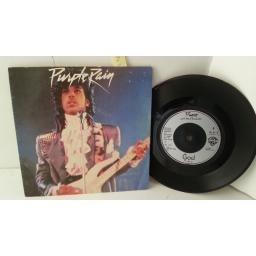 "PRINCE AND THE REVOLUTION purple rain, 7"" single, W9174"