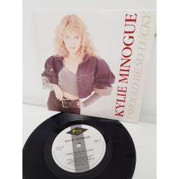 KYLIE MINOGUE, i should be so lucky, side B i should be so lucky instrumental, PWL 8, 7'' single