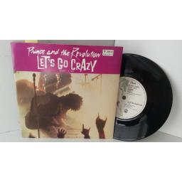 PRINCE AND THE REVOLUTION take me with u, 7 inch single, W2000