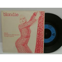 BLONDIE denis, contact in red square, kung fu girls. 7 inch picture sleeve EP. CHS 2204