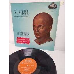 "Beethoven*, Erich Kleiber Conducting The Concertgebouw Orchestra Of Amsterdam* ‎– Symphony No 5 In C Minor Op. 67, LXT 5358, 12"" LP"