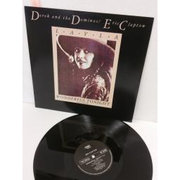 SOLD: DEREK & THE DOMINOS / ERIC CLAPTON layla / wonderful tonight (live version), 12 inch single, RSOX 87