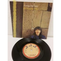 GEORGE HARRISON all those years ago, 7 inch single, K17807