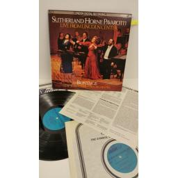 BONYNGE, SUTHERLAND, HORNE, PAVAROTTI, NEW YORK CITY OPERA ORCHESTRA live from lincoln center, gatefold sleeve with centre attached booklet, 2 x lp, LDR 72009