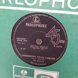 "THE BEATLES, strawberry fields forever, B side penny lane, R 5570, 7"" single"