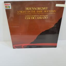 "MOUSSORGSKY, CLAUDIO ABBADO, LONDON SYMPHONY ORCHESTRA, a night on the bare mountain, GL 70405, 12"" LP"