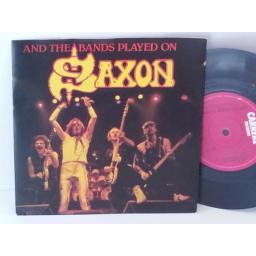 SAXON and the bands played on, 7 inch single, CAR 180