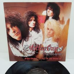 "Mötley Crüe, dr. feelgood, B side sticky sweet + all in the name of..., EKR 97T, 12"" single"