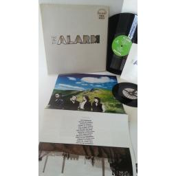 THE ALARM change, die cut sleeve, 7 inch single, EIRSAX 1020, lyric insert