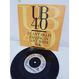 "UB40, I can't help falling in love with you, B side jungle love, DEP 40, 7"" single"