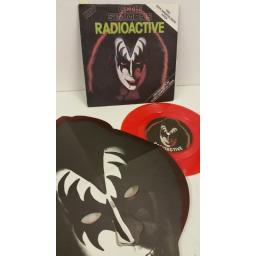 GENE SIMMONS radioactive, 7 inch single, red vinyl, gene simmons mask, CAN 134
