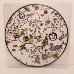 "LED ZEPPELIN, led zeppelin III, HATS 421-56-P, 12"" LP, picture disc"