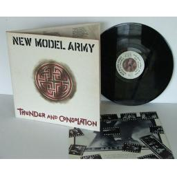 NEW MODEL ARMY, Thunder and Consolation Top copy. Very rare. 1989. EMI. [Vinyl]