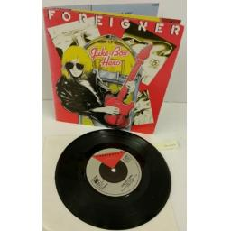 FOREIGNER juke box, 7 inch single, fold out sleeve, K11678