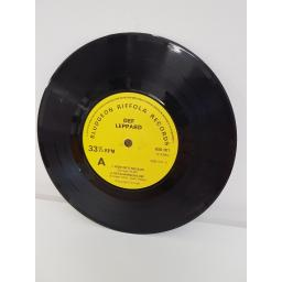 "DEF LEPPARD, ride into the sun and getcha rocks off, B side the overture, MSB 001, 7"" single"