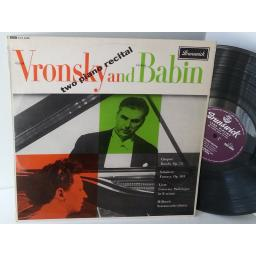 VRONSKY AND BABIN two piano recital, AXA 4508