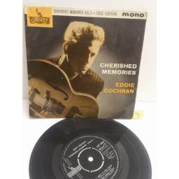 "EDDIE COCHRAN cherished memories Vol. 1 MONO LEP2090. 4 TRACK PICTURE SLEEVE 7"" single"
