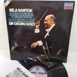"Béla Bartók / Chicago Symphony Orchestra / Sir Georg Solti ‎– Concerto For Orchestra / Dance Suite, SXDL 7536, 12"" LP"