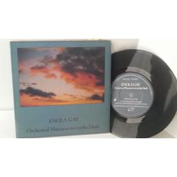 ORCHESTRAL MANOEUVRES IN THE DARK enola gay, 7 inch single, DIN 22