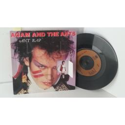 ADAM AND THE ANTS ant rap, window sleeve, 7 inch single, A 1738