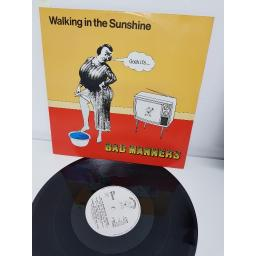 "BAD MANNERS, walking in the sunshine extended version , B side end of the world and night bus to dalston vocal version , 12 MAG 197, 12"" single"