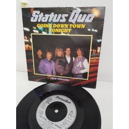 STATUS QUO, going down town tonight, side B too close to the ground, QUO 15, PICTURE SLEEVE, 7'' single