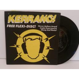 LOUD and CHEAP AND NASTY good is dead and internal action. kerrang free flexi disc 7 inch picture sleeve. bender 3