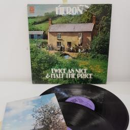 "HERON, twice as nice & half the price, 2X 12""LP, DNLS 3025"